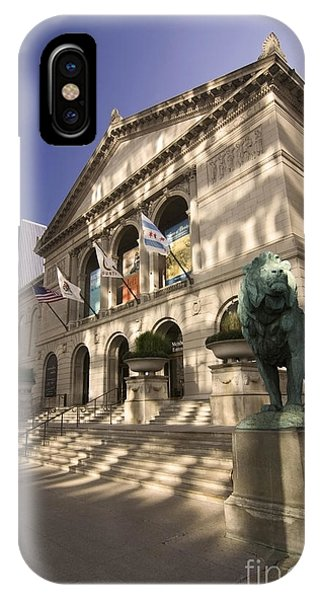 Chicago's Art Institute In Reflected Light. IPhone Case