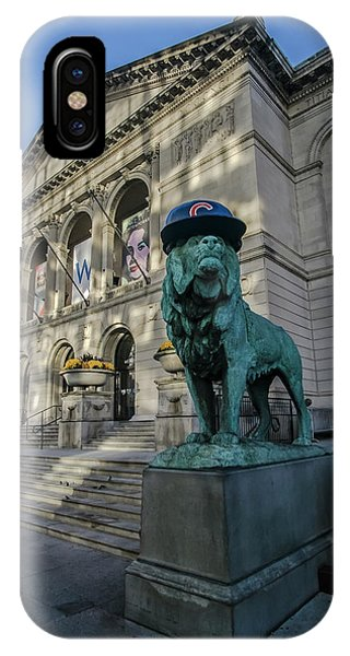 Chicago's Art Institute With Cubs Hat IPhone Case