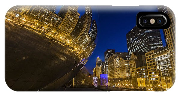 Chicago's Millenium Park At Dusk IPhone Case