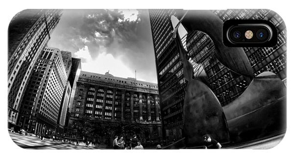 Chicago's Picasso With A Fisheye View IPhone Case
