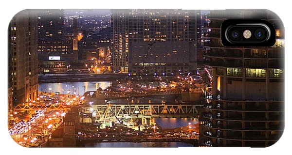 Chicago's River At Night IPhone Case