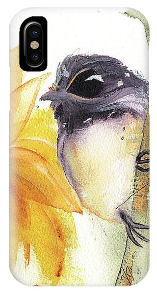 Chickadee And Sunflowers IPhone Case
