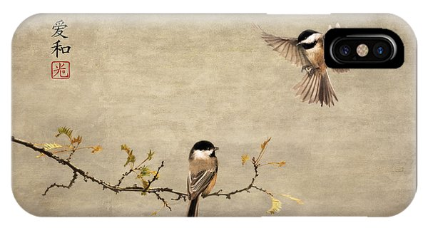 Chickadee Encounter II IPhone Case