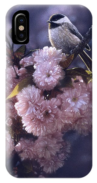 Chickadee - In Spring Pink IPhone Case