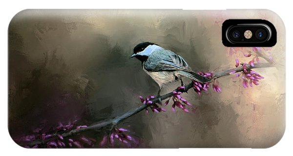 Chickadee In The Light IPhone Case