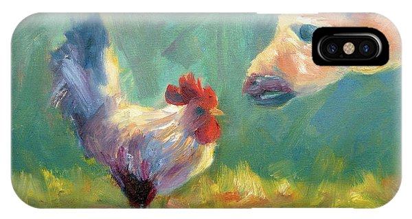 Chicken Meets Llama IPhone Case