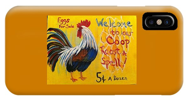Chicken Welcome Sign 7 IPhone Case