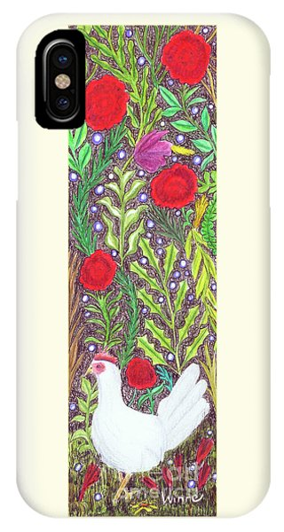 Chicken With An Attitude In Vegetation IPhone Case