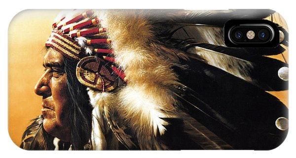 Men iPhone Case - Chief by Greg Olsen