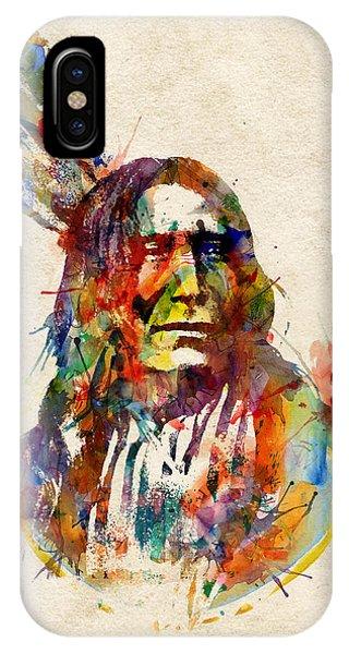 Chief Mojo Watercolor IPhone Case