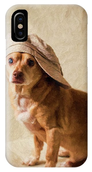 Chihuahua In A Newsboy Hat IPhone Case