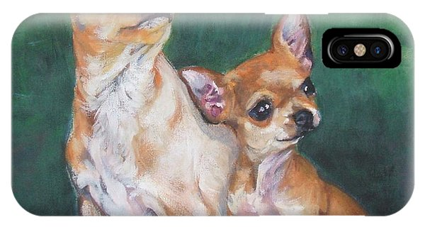 Pup iPhone Case - Chihuahua Mom And Pup by Lee Ann Shepard