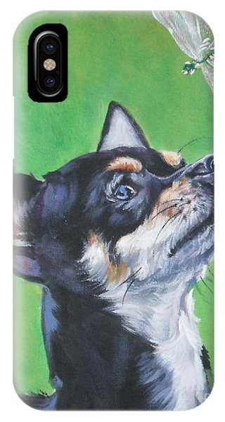 Chihuahua With Dragonfly IPhone Case