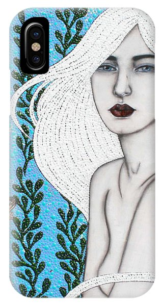 IPhone Case featuring the mixed media Child Of The Ocean by Natalie Briney