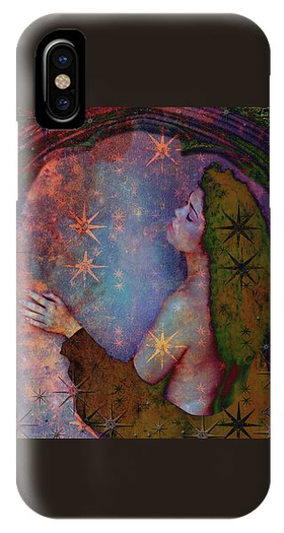 IPhone Case featuring the digital art Child Of The Stars by Louise Roach