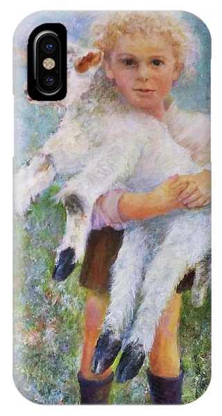 Child With A Lamb IPhone Case