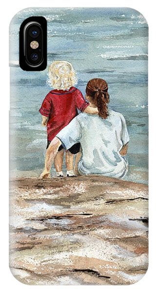 Children By The Sea  IPhone Case