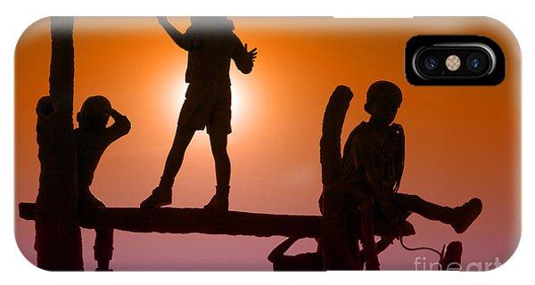 Children Climbing IPhone Case