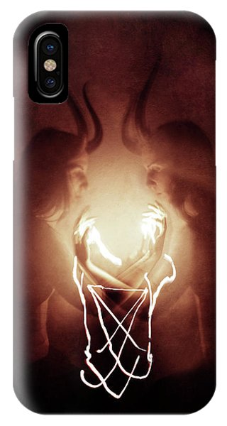 Magician iPhone X / XS Case - Children Of Fire by Cambion Art