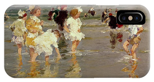 Impressionism iPhone X Case - Children On The Beach by Edward Henry Potthast