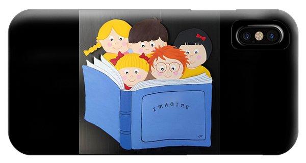 Children Reading Book IPhone Case