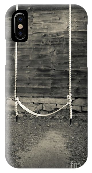 New England Barn iPhone Case - Child's Swing On An Old Farm by Edward Fielding