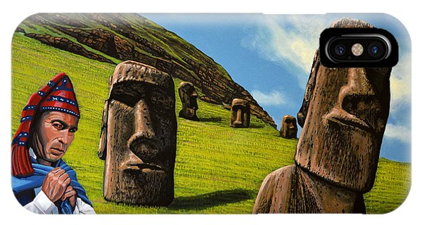 Chile Easter Island IPhone Case