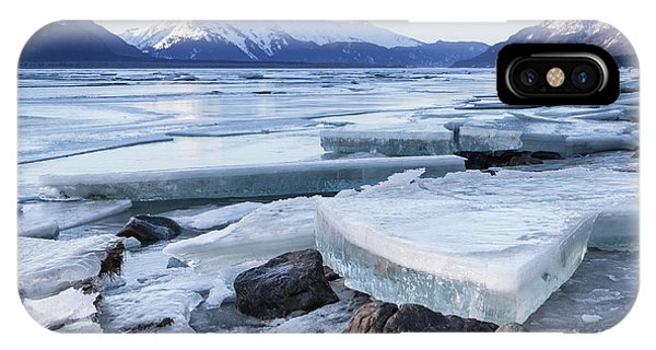 Chilkat River Ice Chunks IPhone Case