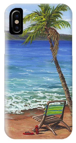 Chillaxing Maui Style IPhone Case