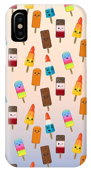 Frozen Food iPhone Case - Chilled Friends - Summer Background by LozMac