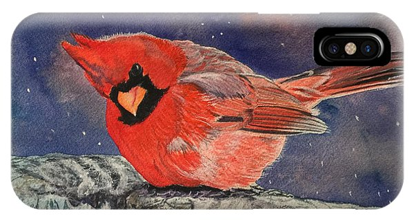 Chilly Bird Christmas Card IPhone Case