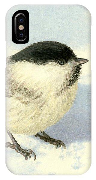 Audubon iPhone X Case - Chilly Chickadee by Sarah Batalka