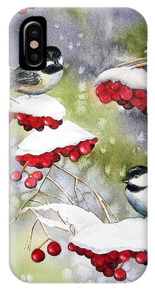 Chilly Chickadees IPhone Case