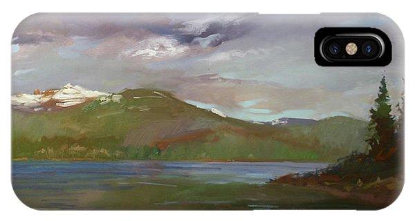 Betty Billups iPhone Case - Chimney Rock  At Priest Lake  Plein Air by Betty Jean Billups