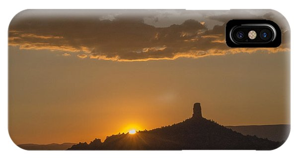 Chimney Rock Sunset IPhone Case