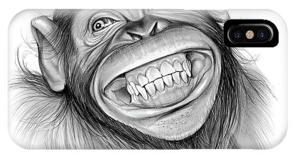 Chimpanzee iPhone Case - Chimpanzee by Greg Joens