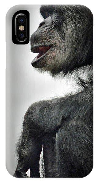 Chimpanzee Profile Vignetee Effect IPhone Case