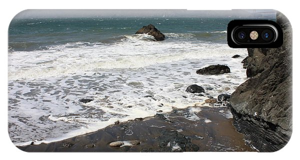 China Beach With Outgoing Wave IPhone Case