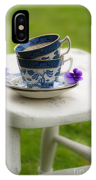 Saucer iPhone Case - China Cups by Amanda Elwell