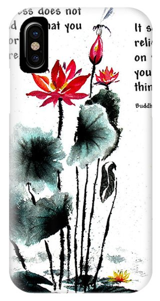 China Garden With Buddha Quote IPhone Case