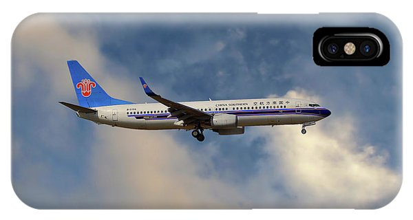 Airline iPhone Case - China Southern Airlines Boeing 737-81q by Smart Aviation