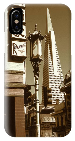 San Francisco Chinatown And Pyramid IPhone Case