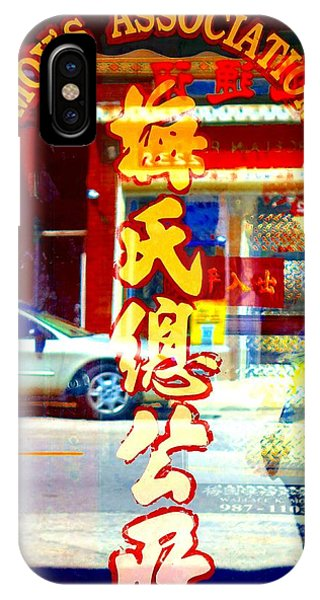 IPhone Case featuring the photograph Chinatown Window Reflection 1 by Marianne Dow