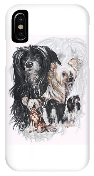 Chinese Crested And Powderpuff Medley IPhone Case