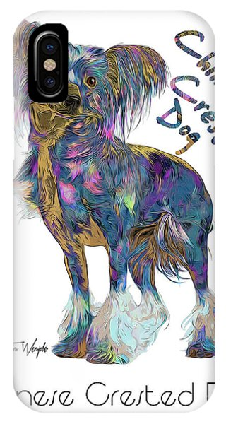 Chinese Crested Dog Pop Art IPhone Case
