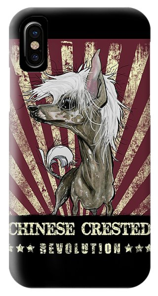 Caricature iPhone Case - Chinese Crested Revolution by John LaFree