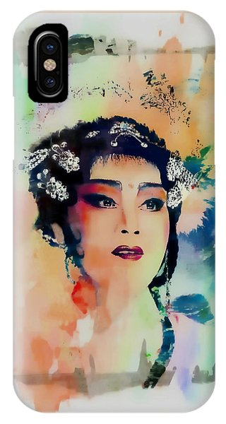 Chinese Cultural Girl - Digital Watercolor  IPhone Case