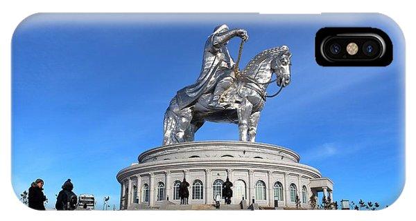 Chinggis Khan Statue/tsagaan Sar IPhone Case