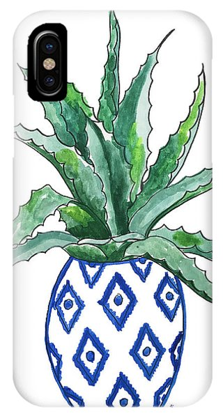 Cactus iPhone Case - Chinoiserie Cactus by Roleen Senic