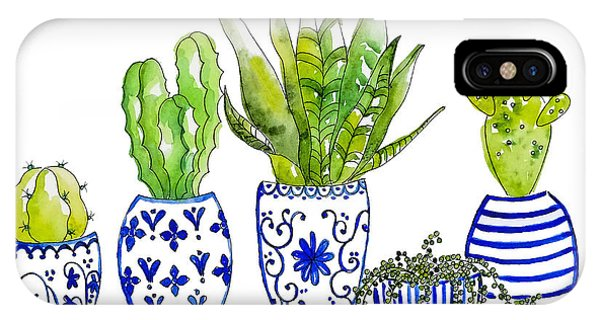Cactus iPhone Case - Chinoiserie Collected by Roleen Senic